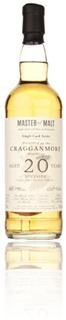 Cragganmore 20 years 1991 - Master of Malt