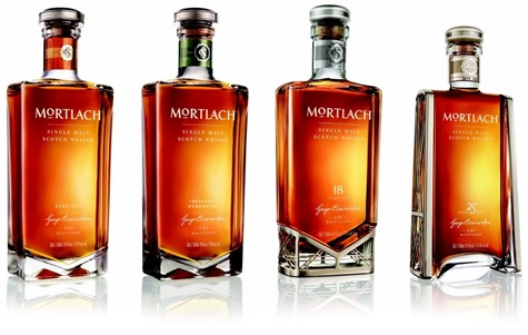 Mortlach whisky: Rare Old, Special Strength, 18yo, 25yo