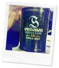 Springbank 18 Years Single Cask - The Nectar