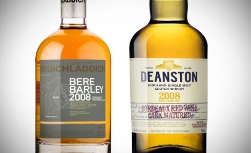 Bruichladdich Bere Barley 2008 - Deanston 2008 Bordeaux