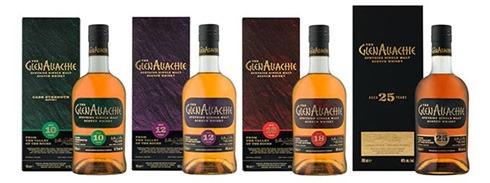 GlenAllachie whisky: 10 / 12 / 18 / 25 Years