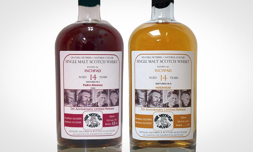 Inchfad 2005 (bourbon vs. Pedro Ximenez) - Malt Monkeys