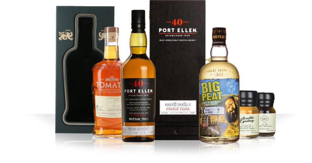 Big Peat A846 / Port Ellen 40 Years / Tomatin distillery exclusive