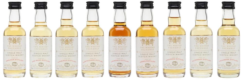 Whisky Exchange miniatures