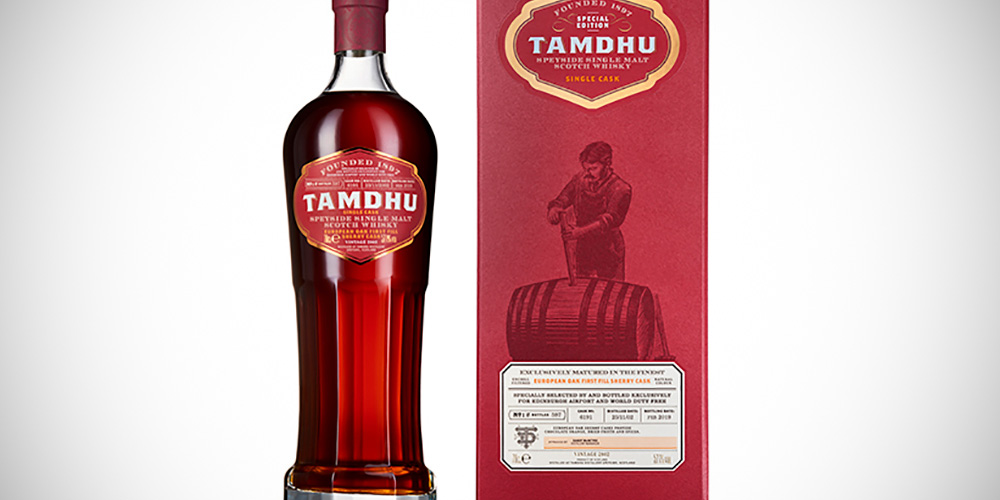 Tamdhu Edinburgh airport single cask