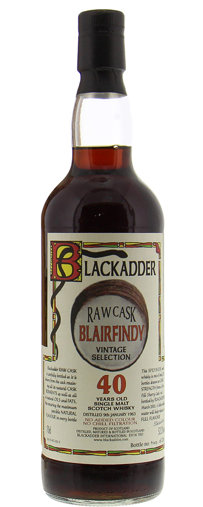 Blairfindy 1963 (Blackadder Raw Cask)