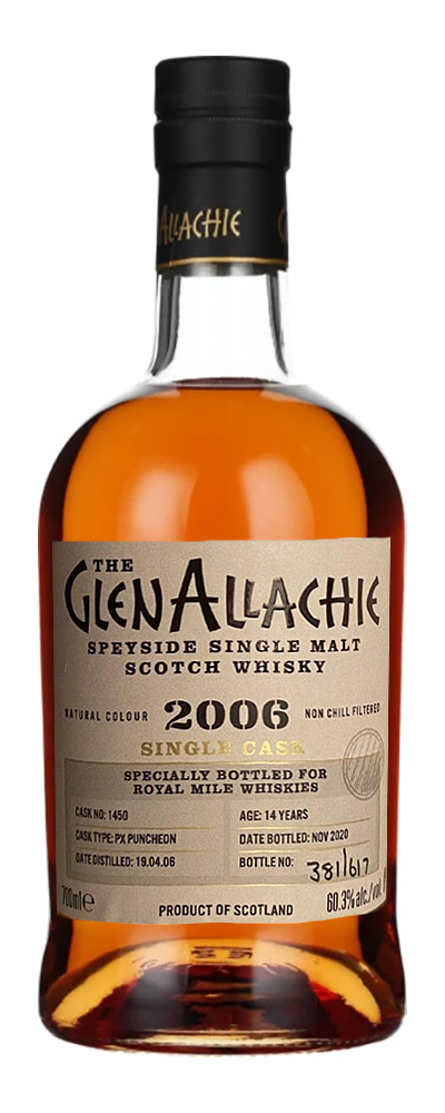 GlenAllachie 2006 (cask #1450 for Royal Mile Whiskies)