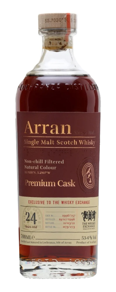 Arran 1996 (cask #757 for The Whisky Exchange)