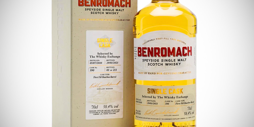Benromach 2010 single cask - The Whisky Exchange