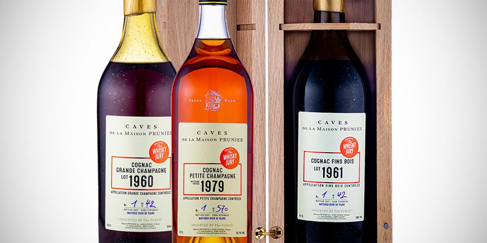 Cognac Prunier 1960 - 1961 - 1979 (The Whisky Jury)