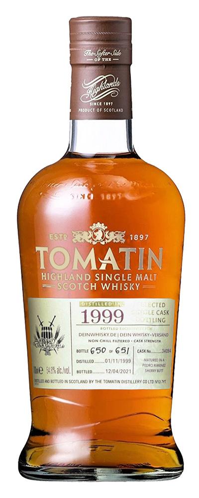 Tomatin 1999 (PX cask #34094 for DeinWhisky.de)