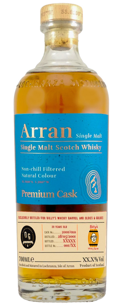 Arran 2001 cask #010 (Billy's Whisky Barrel and Oldies & Goldies)